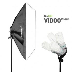 Lampa światła stałego SOFTBOX 60x90cm 4x 85W 230cm