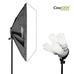 Lampa światła stałego SOFTBOX 60X60 4x 65W 230cm