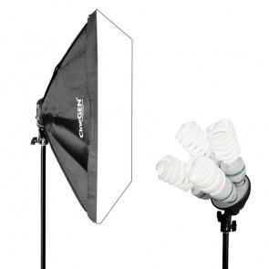 Lampa światła stałego SOFTBOX 50X70 4x 65W 230cm