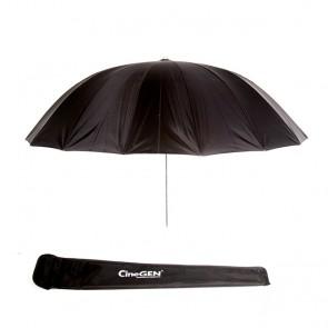 Parasolka fotograficzna, reflektor, deflektor, CineGEN CGU60BW  (czasza rozłożona, poniżej pokrowiec)