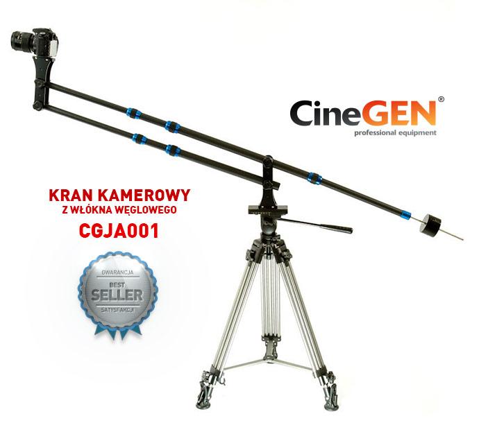 Karbonowy kran kamerowy (żuraw) do lustrzanek i kamer cyfrowych