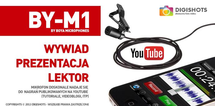 mikrofon krawatowy BY-M1 - proste i wydajne rozwiązanie - kup teraz!