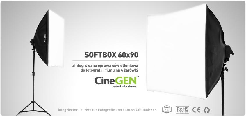 Softbox 60x90 - światło stale