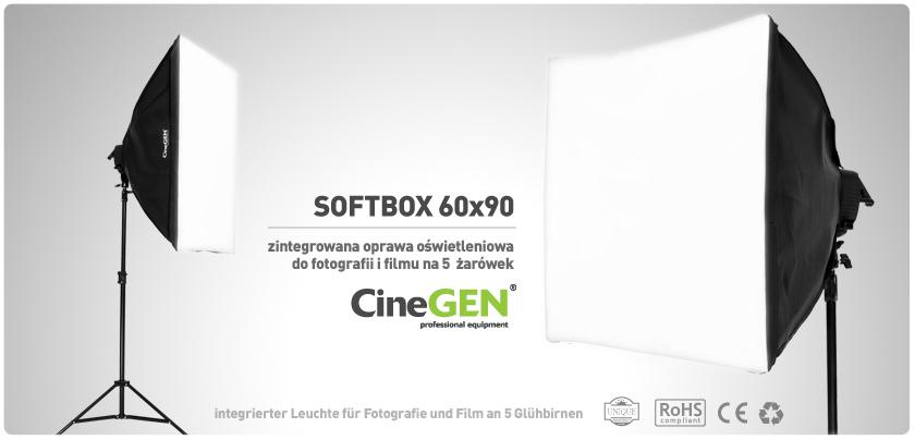 Softbox 60x90 - światło ciągłe