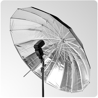 Parasolka 100cm srebrna