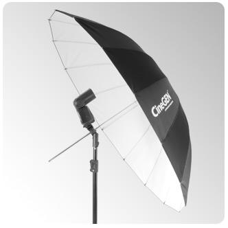 Parasolka 100cm biała
