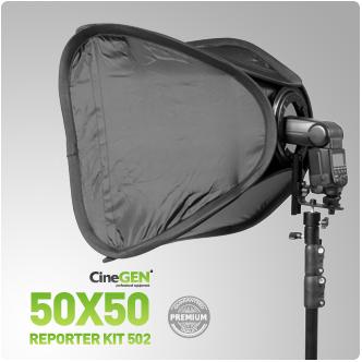 Zestaw reporterski ReporterKit 502 - softbox ze statywem