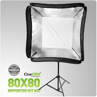 Zestaw reporterski ReporterKit 802 - softbox ze statywem