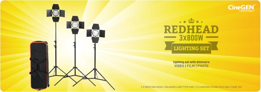 Zestaw lamp halogenowych do filmu i fotografii