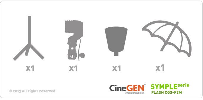 Zestaw oświetleniowy SYMPLEserie FLASH CGS-F3D