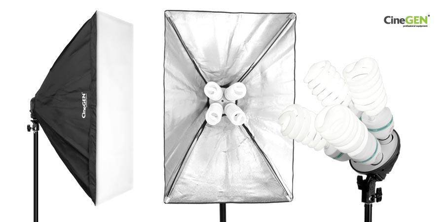Lampa typu softbox